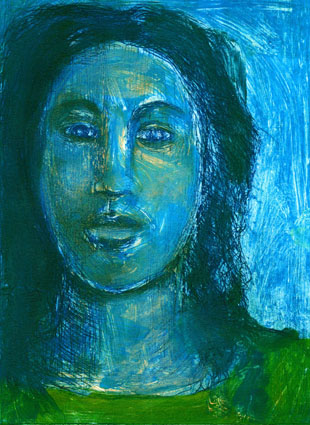 Goodman Color Monoprint Blu Muse